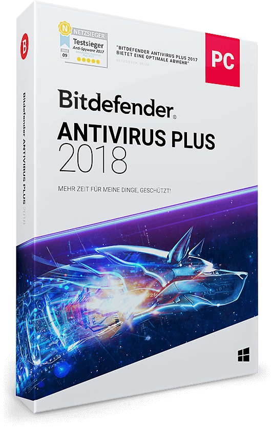 Bitdefender Antivirus Plus 2018 - 1 PC | 3 Jahre / 1095 Tage (Download)