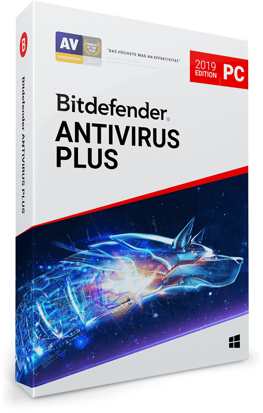 Bitdefender Antivirus Plus 2019 / 2020 - 10 PC | 3 Jahre / 1095 Tage (Download)
