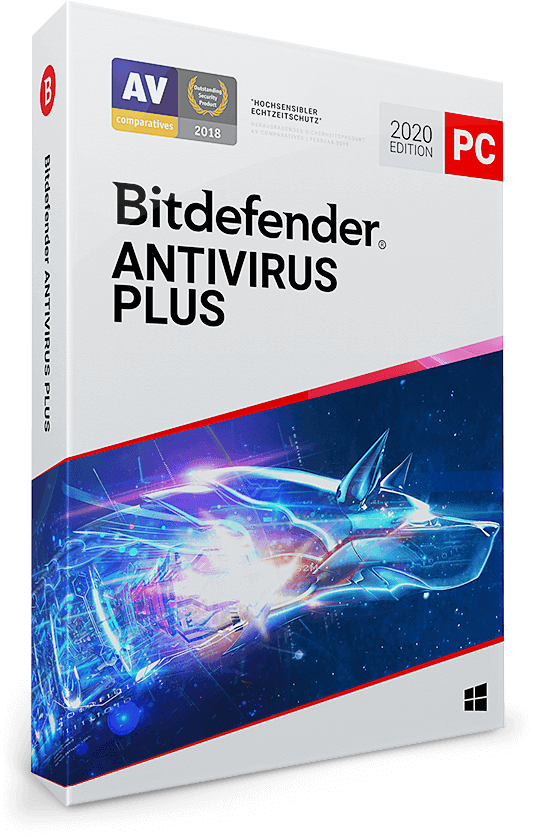 Bitdefender Antivirus Plus 2020 - 10 PC | 3 Jahre / 1095 Tage (Download)