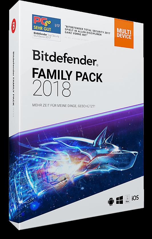 Bitdefender Family Pack 2018 – Alle Ihre Geräte – 3 Jahre / 1095 Tage (Download)