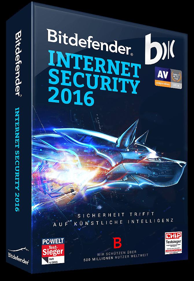 Bitdefender Internet Security 2016 + Upgrade 2017 - 1 Gerät | 2 Jahre (Download)