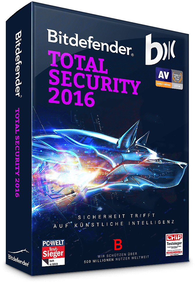 Bitdefender Total Security 2016 + Upgrade 2017 - 3 PC | 1 Jahr (Download / ESD)