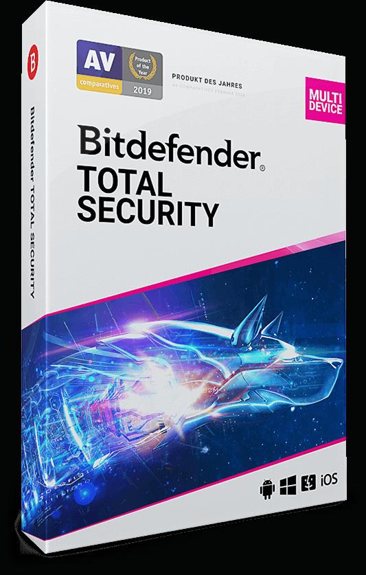 Bitdefender Total Security 2021 – 5 Geräte (Win, Mac, Android & iOS) | 1 Jahr